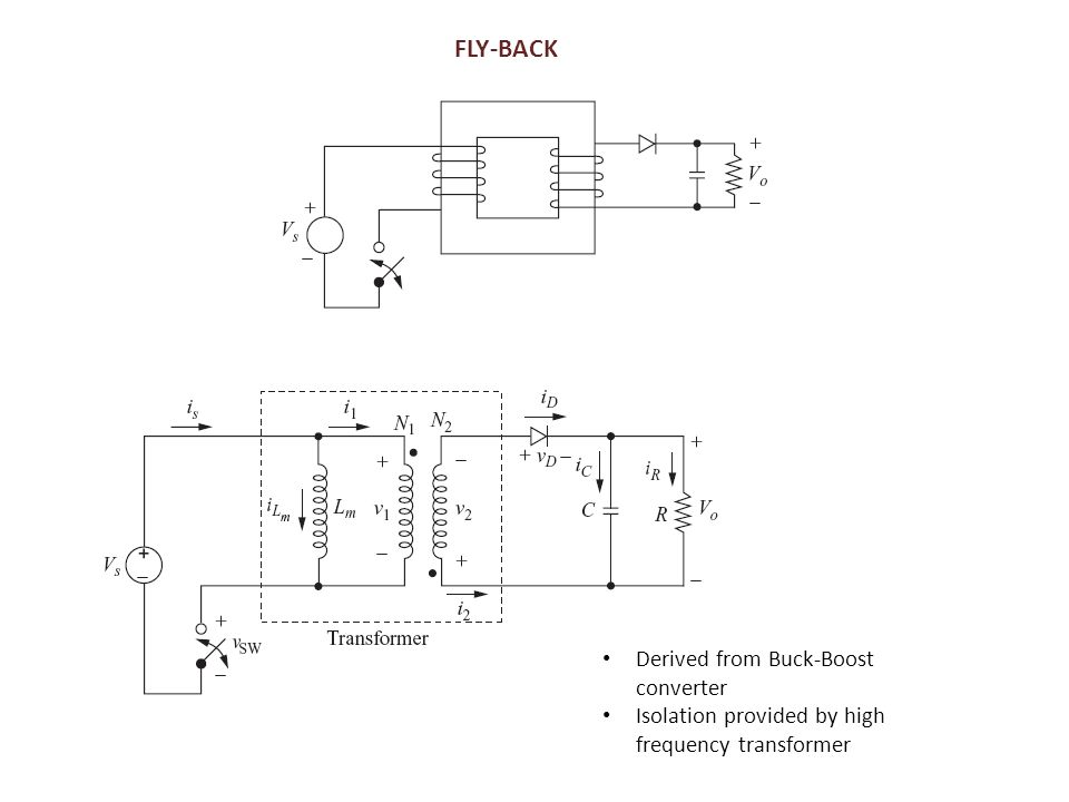 FLY-BACK Derived from Buck-Boost converter