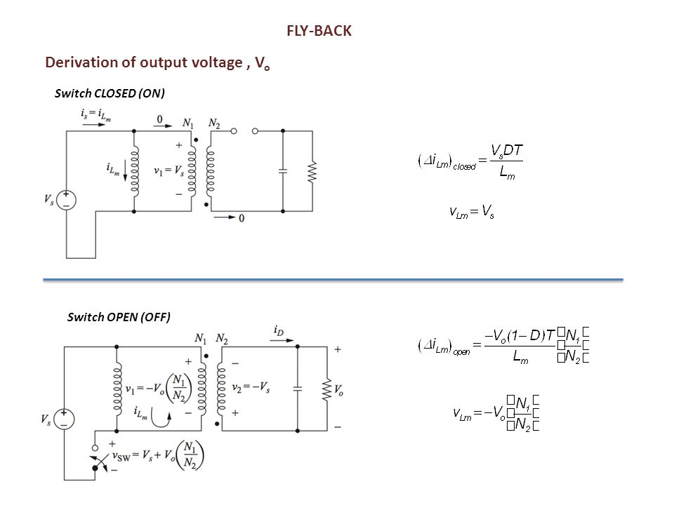 Derivation of output voltage , Vo