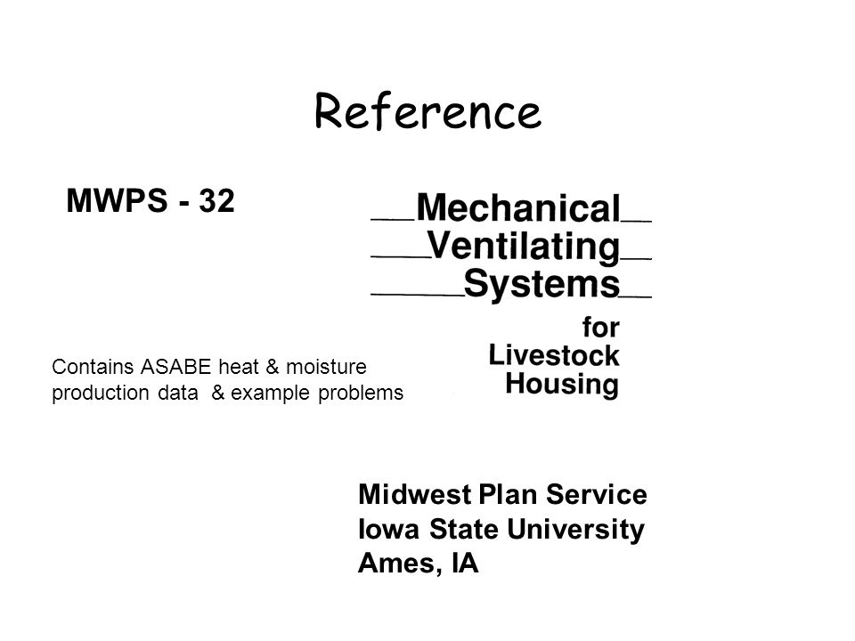 Reference MWPS - 32 Midwest Plan Service Iowa State University