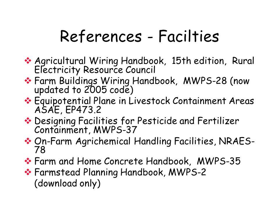 References - Facilties