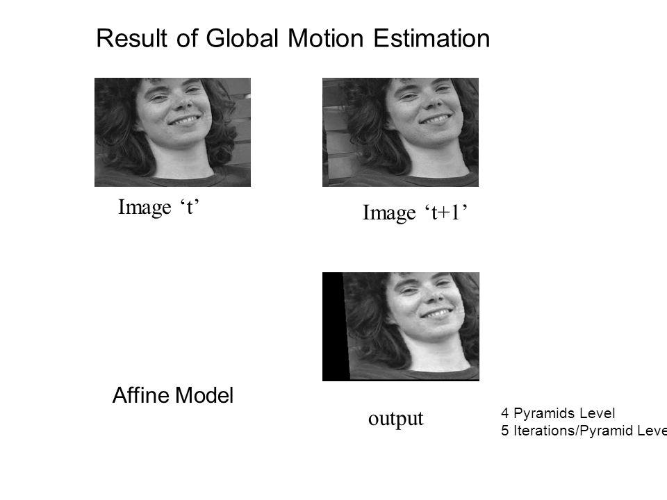 Result of Global Motion Estimation