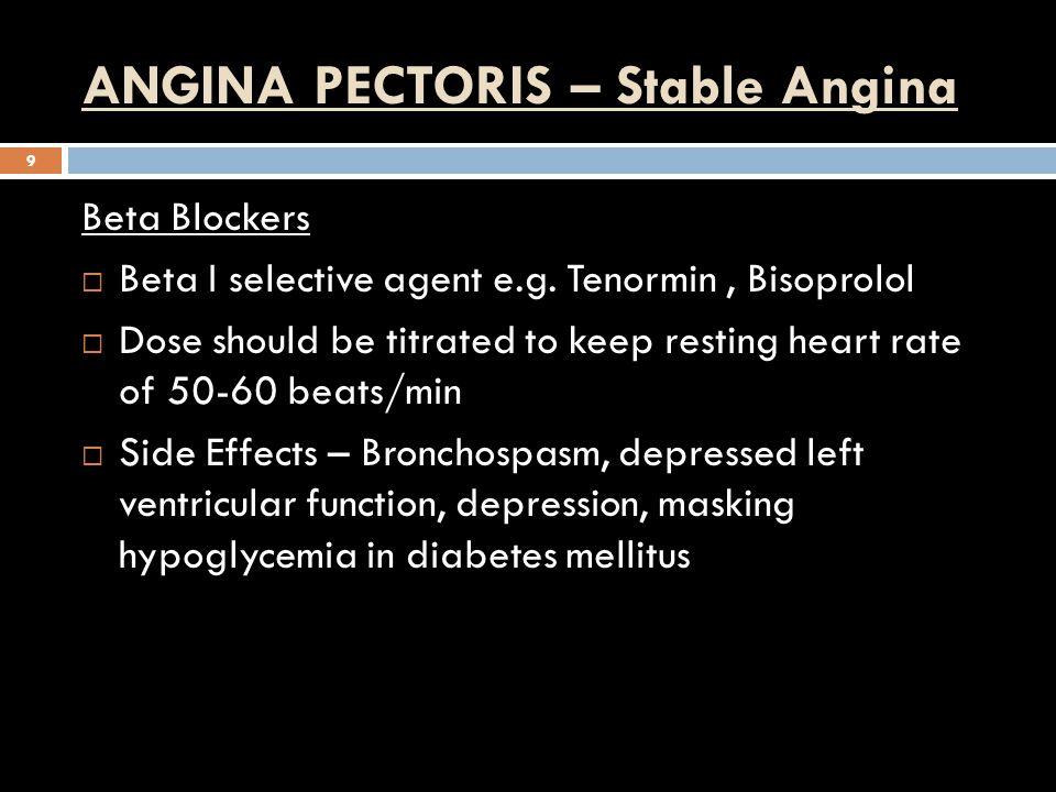 ANGINA PECTORIS – Stable Angina