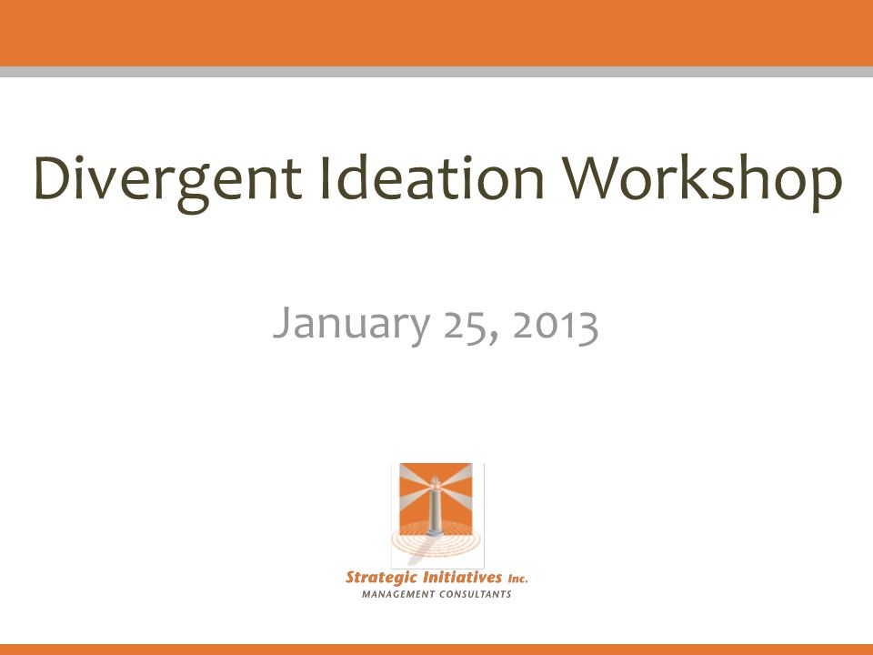 Divergent Ideation Workshop