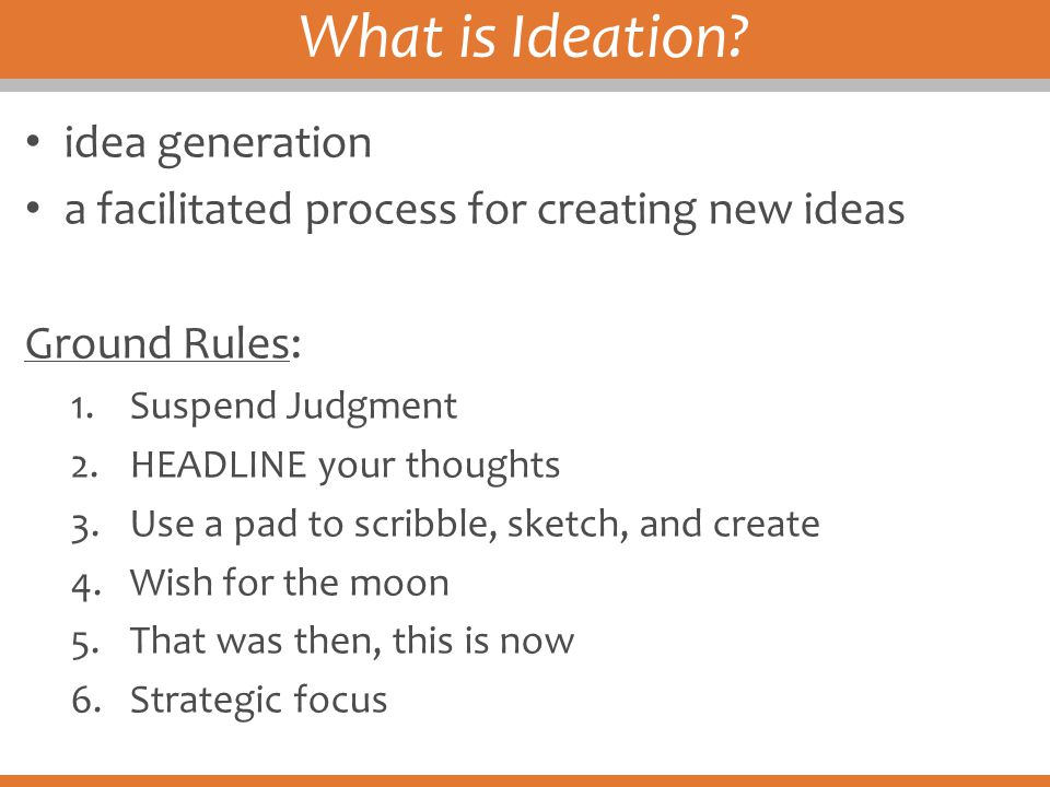 What is Ideation idea generation