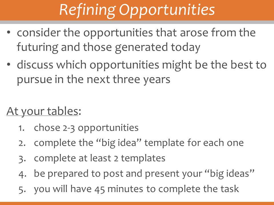 Refining Opportunities