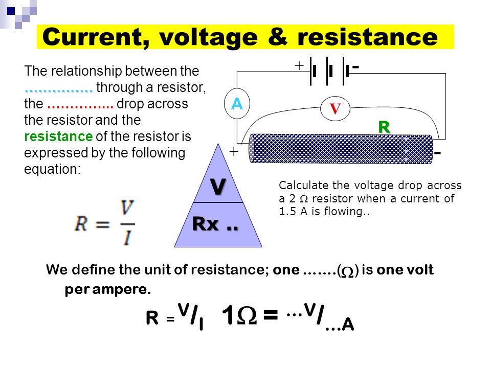 Current, voltage & resistance
