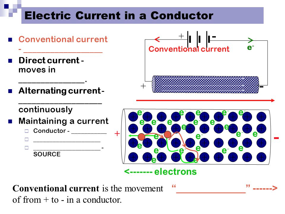 Electric Current in a Conductor