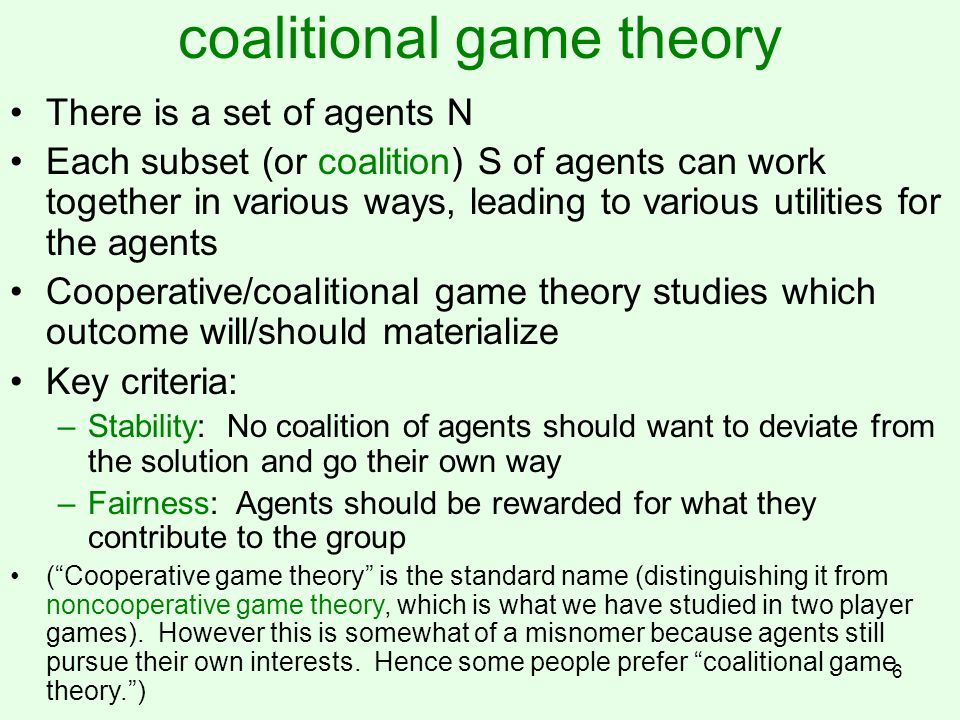 coalitional game theory