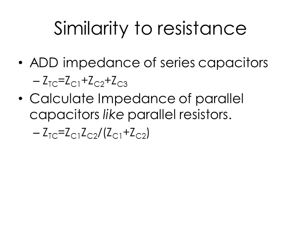 Similarity to resistance