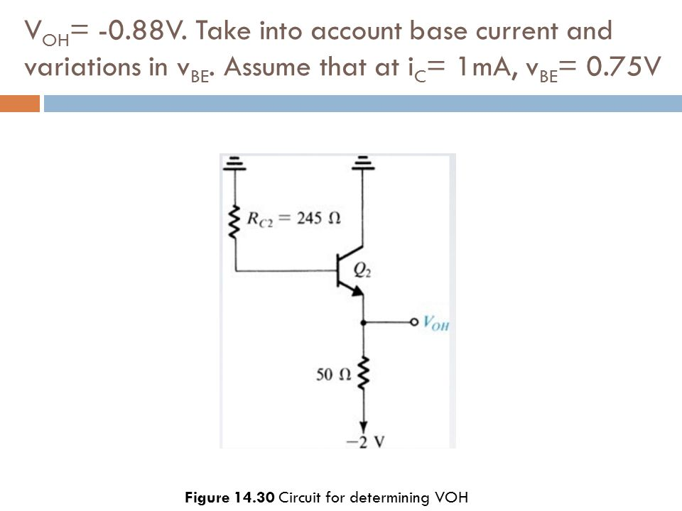 Figure 14.30 Circuit for determining VOH