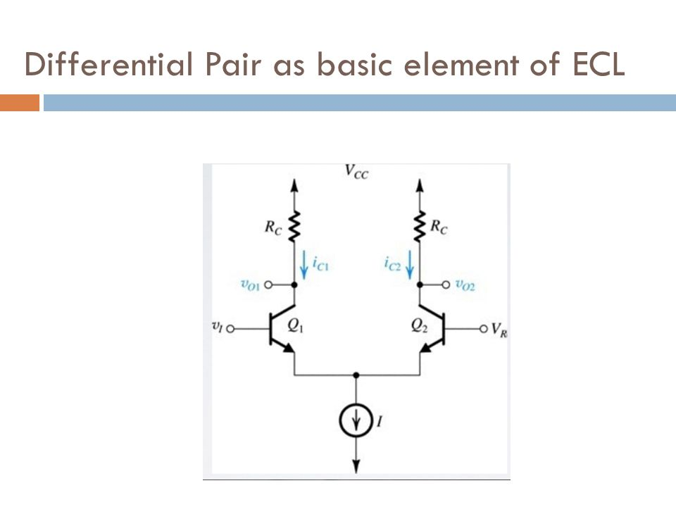 Differential Pair as basic element of ECL