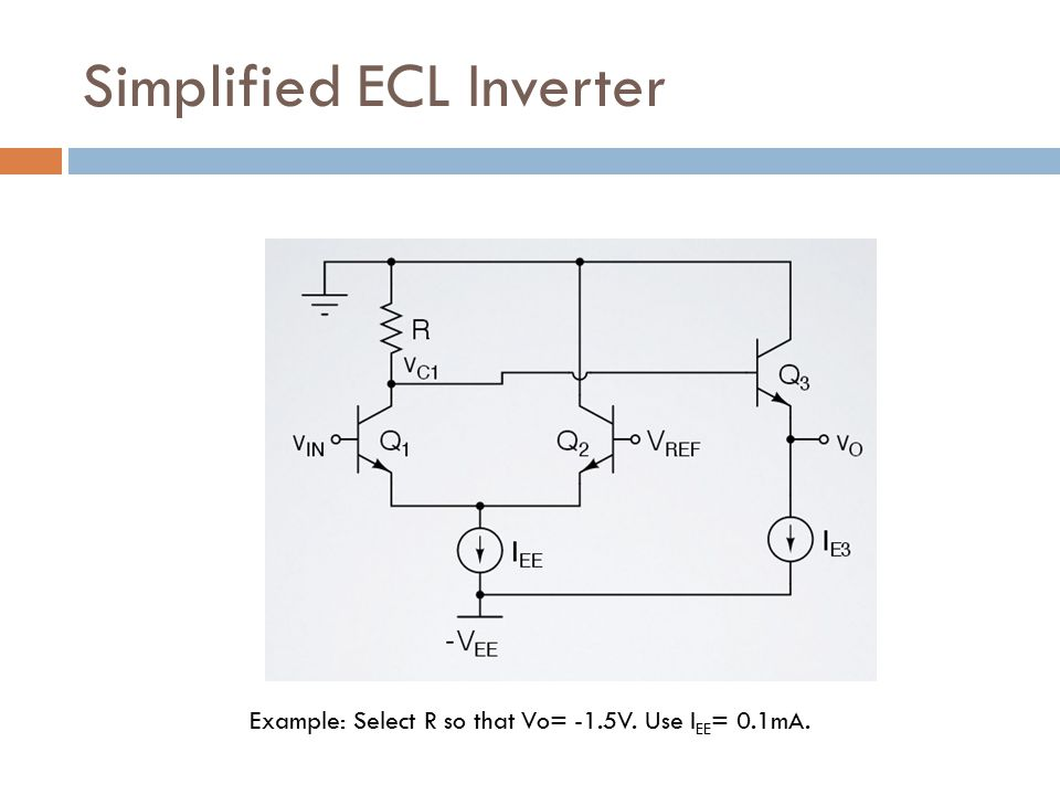 Simplified ECL Inverter