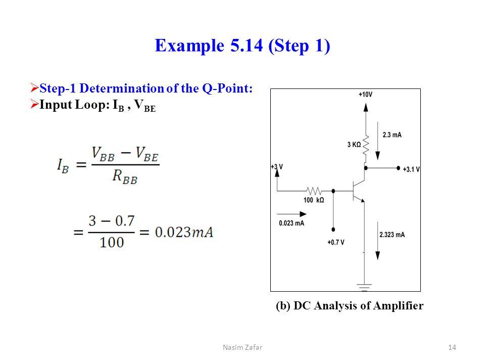 (b) DC Analysis of Amplifier
