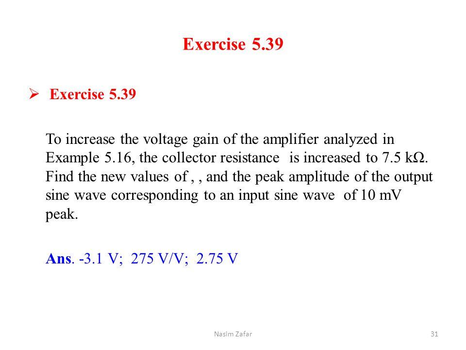 Exercise 5.39 Exercise 5.39.