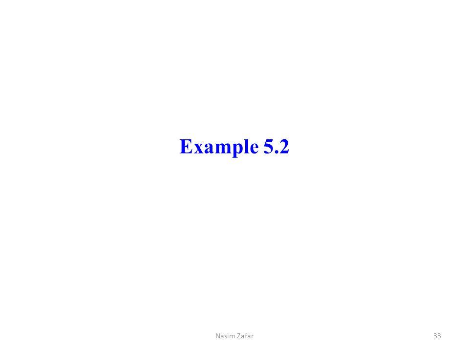 Example 5.2 Nasim Zafar
