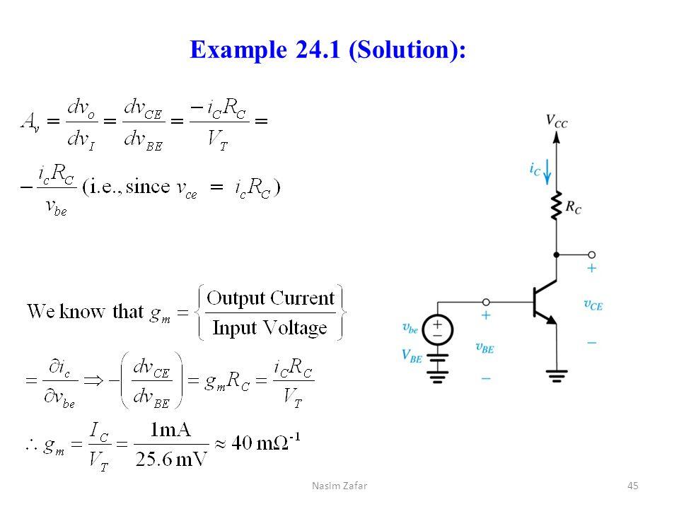 Example 24.1 (Solution): Nasim Zafar