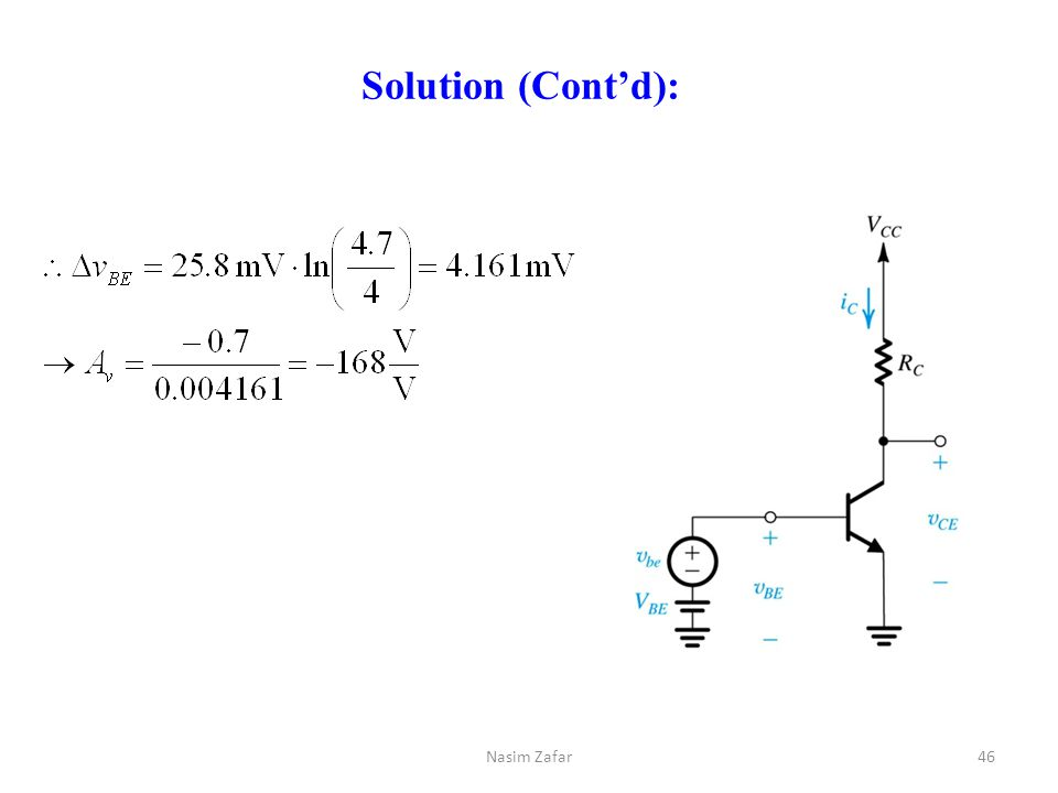 Solution (Cont'd): Nasim Zafar