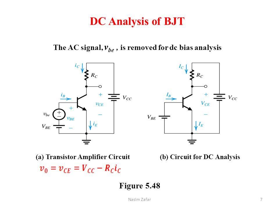 (a) Transistor Amplifier Circuit (b) Circuit for DC Analysis