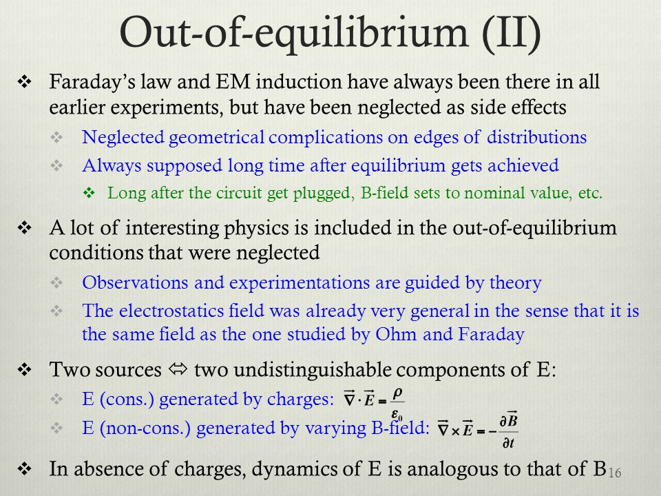 Out-of-equilibrium (II)