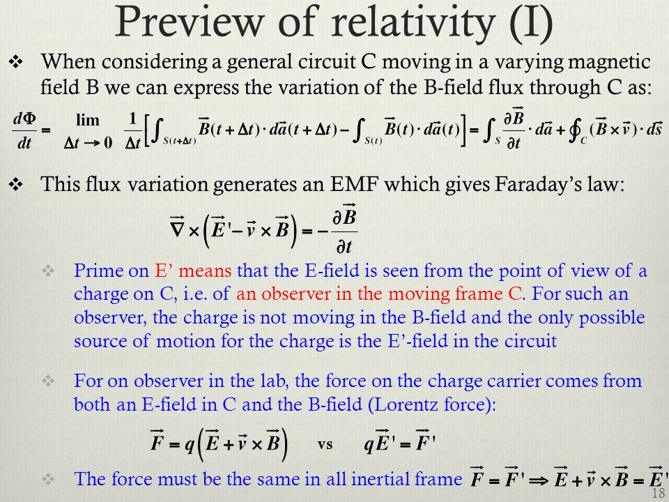 Preview of relativity (I)