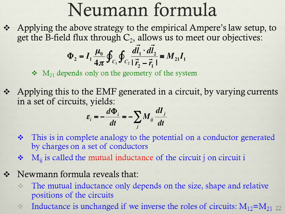 Neumann formula