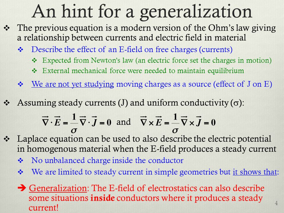 An hint for a generalization