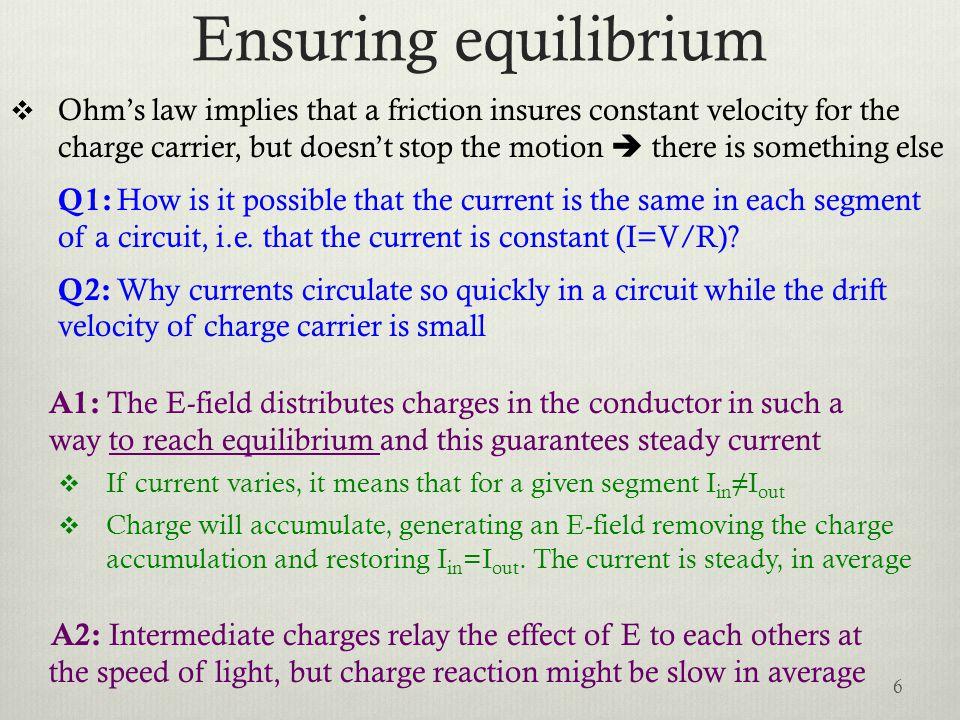 Ensuring equilibrium