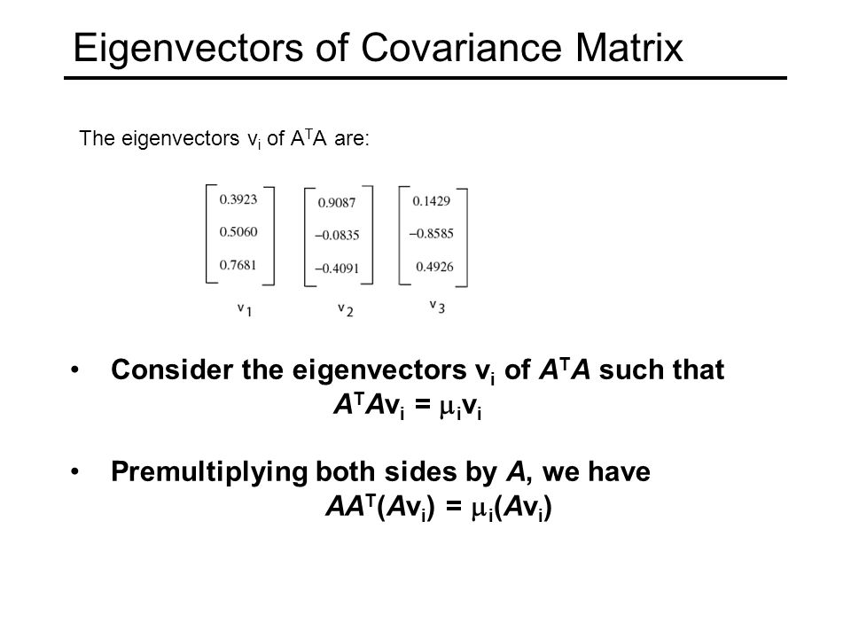 Eigenvectors of Covariance Matrix
