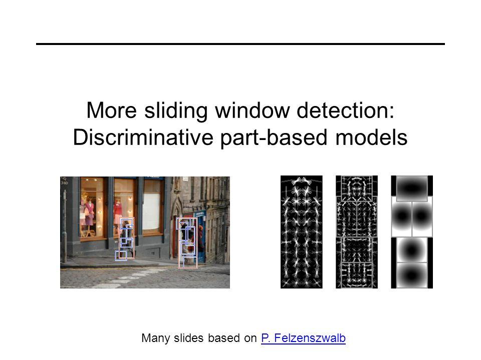 More sliding window detection: Discriminative part-based models