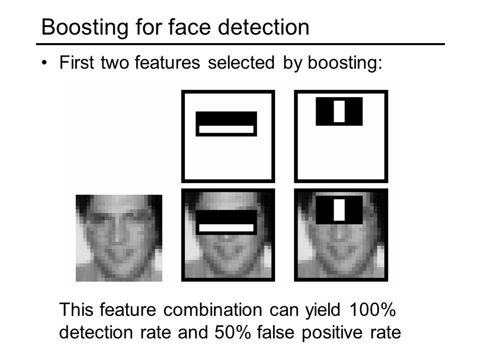 Boosting for face detection