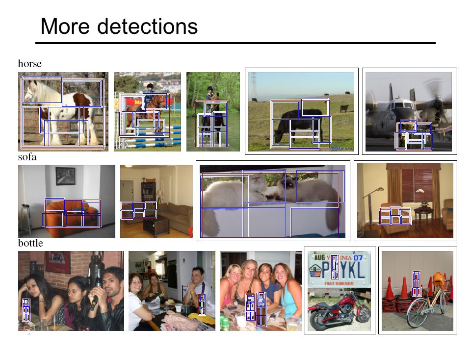More detections
