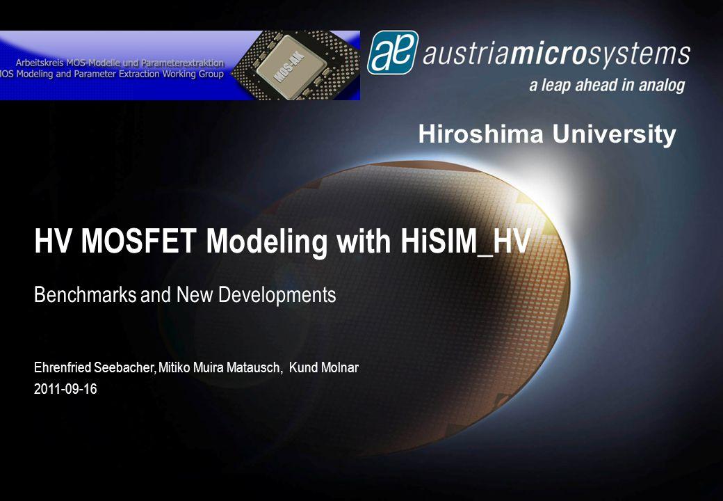 HV MOSFET Modeling with HiSIM_HV
