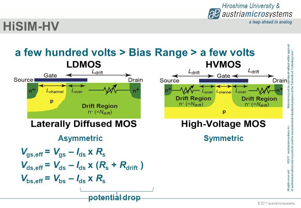 HiSIM-HV a few hundred volts > Bias Range > a few volts