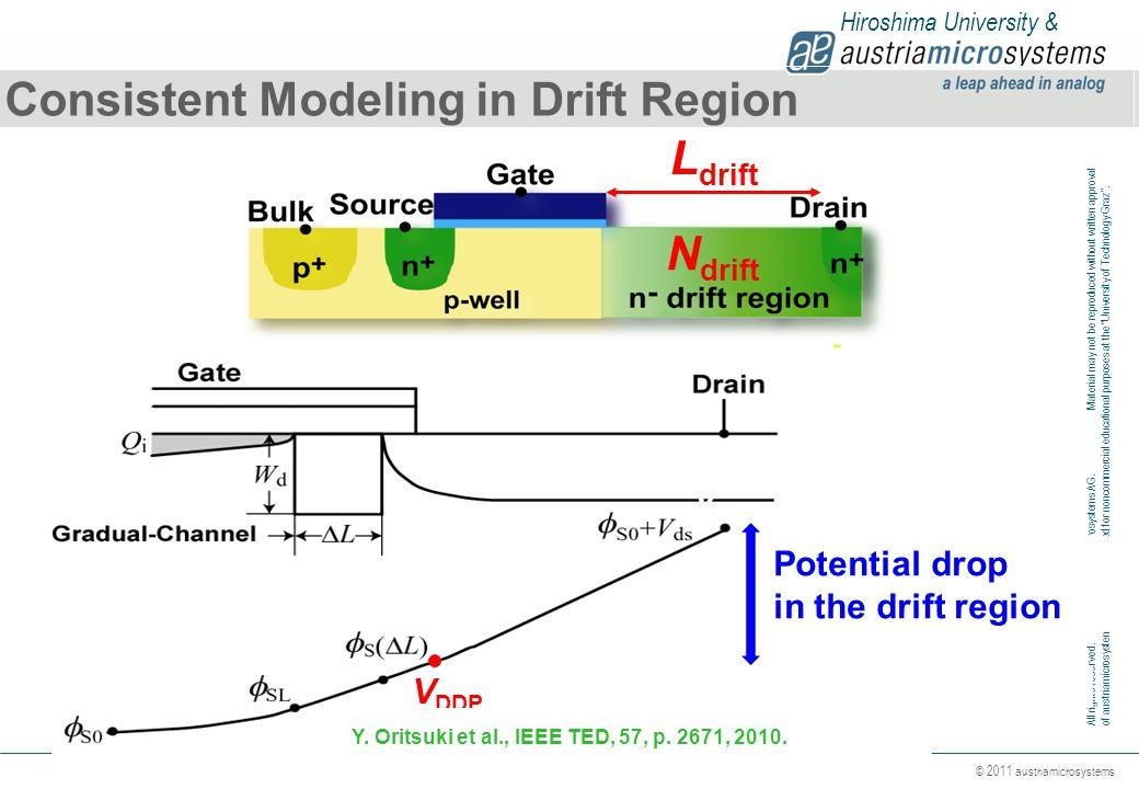 Consistent Modeling in Drift Region Ldrift
