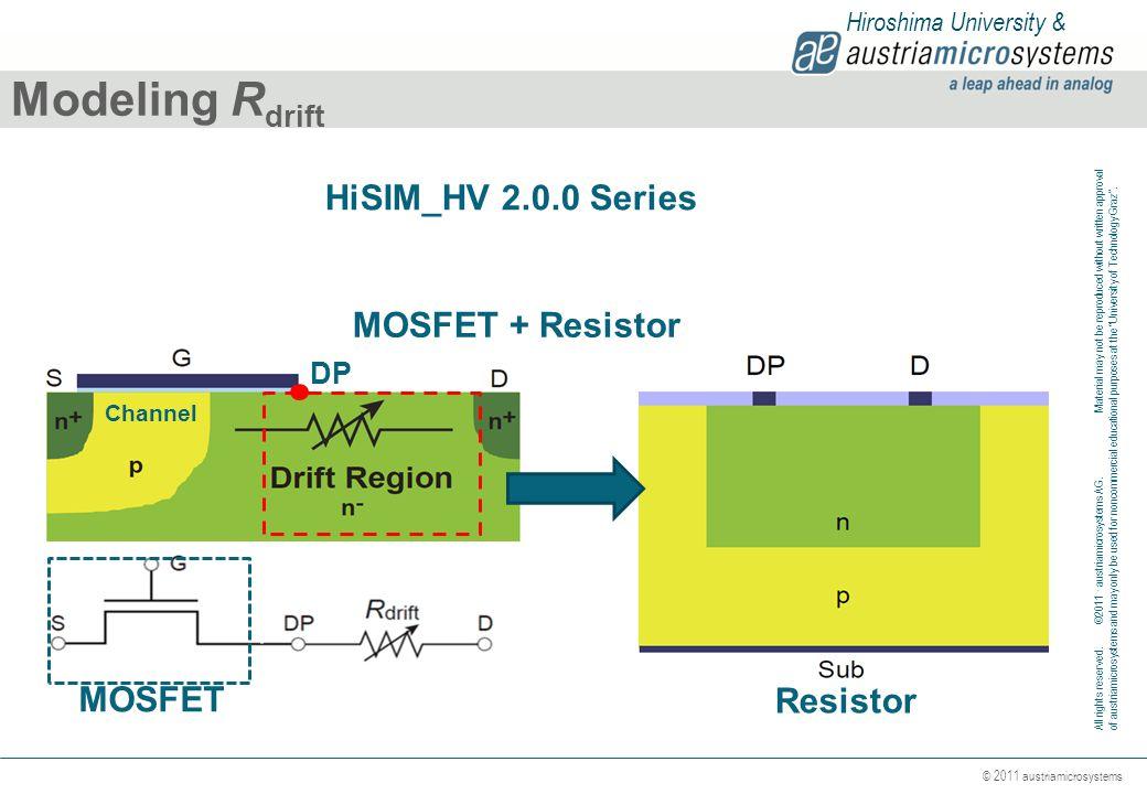 Modeling Rdrift HiSIM_HV 2.0.0 Series MOSFET + Resistor MOSFET