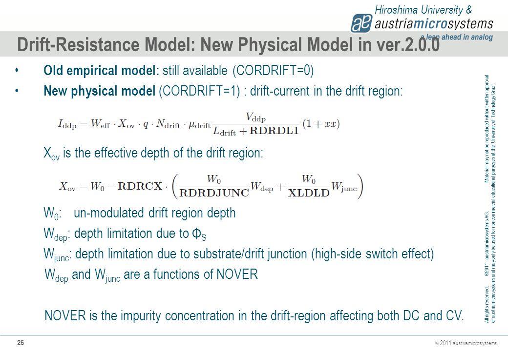 Drift-Resistance Model: New Physical Model in ver.2.0.0