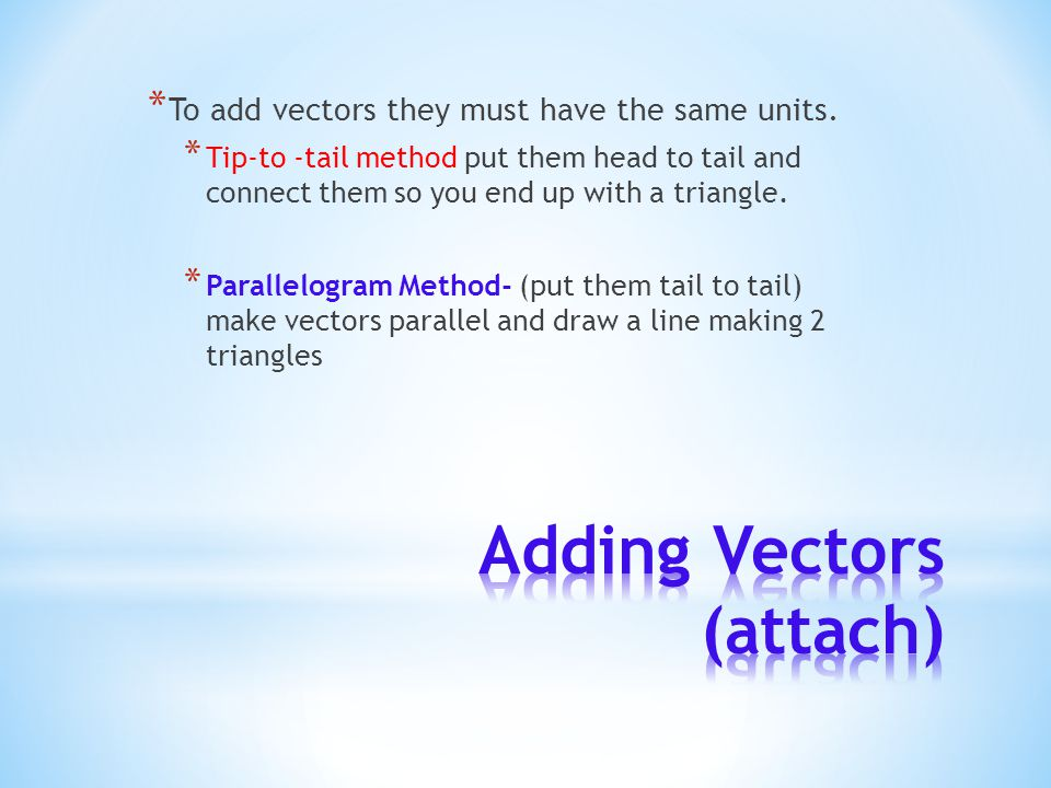 Adding Vectors (attach)