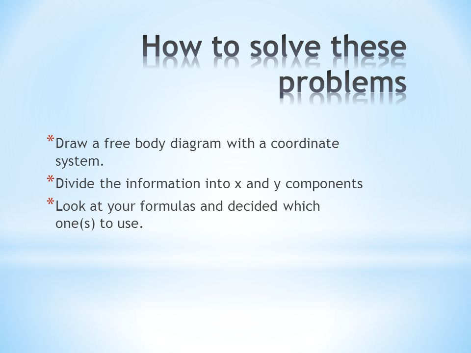 How to solve these problems