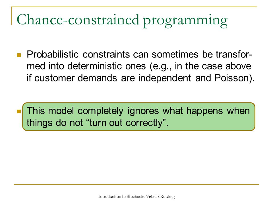 Chance-constrained programming