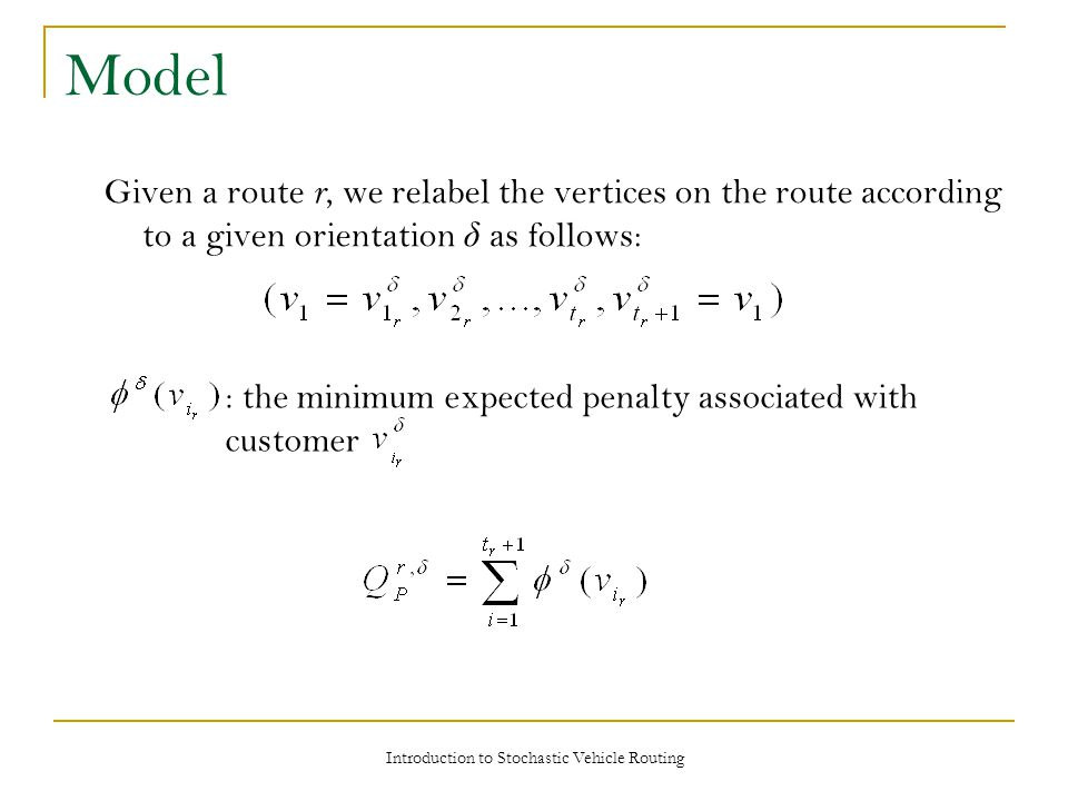 Introduction to Stochastic Vehicle Routing