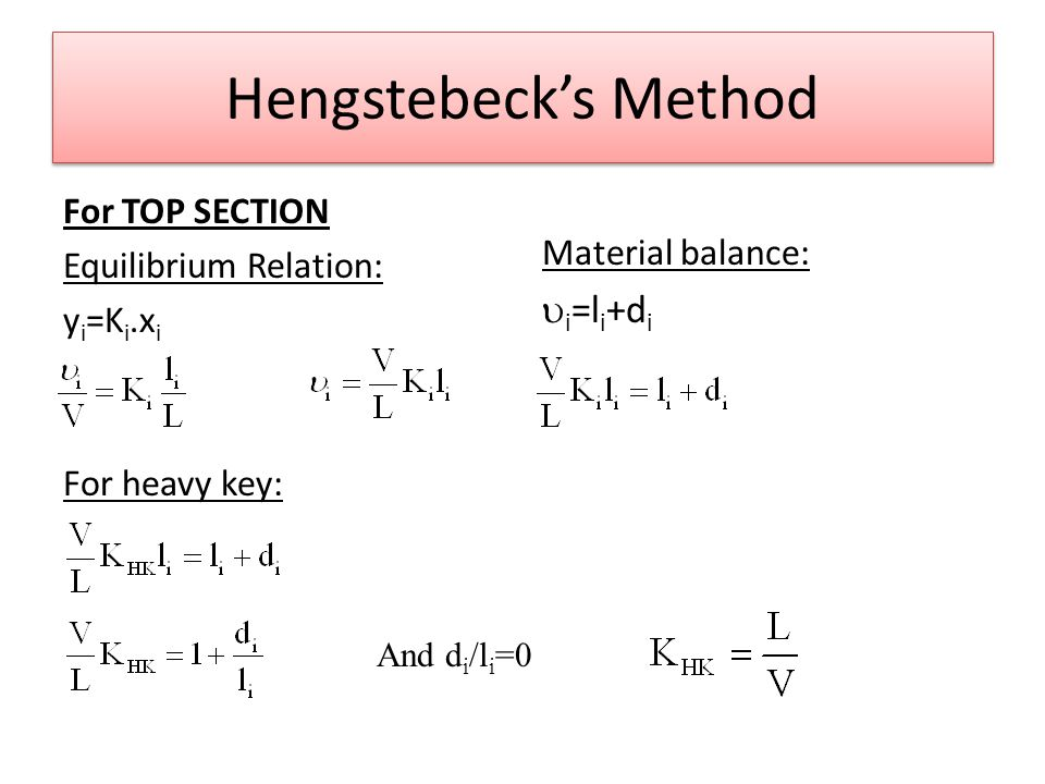 Hengstebeck's Method ui=li+di