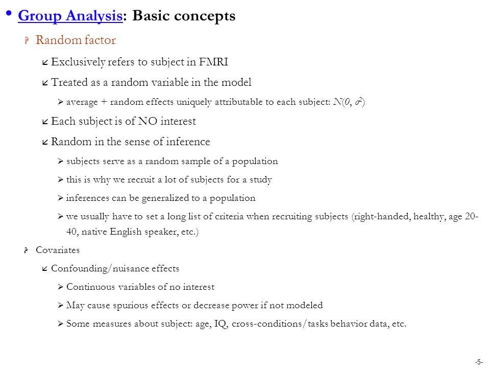 Group Analysis: Basic concepts