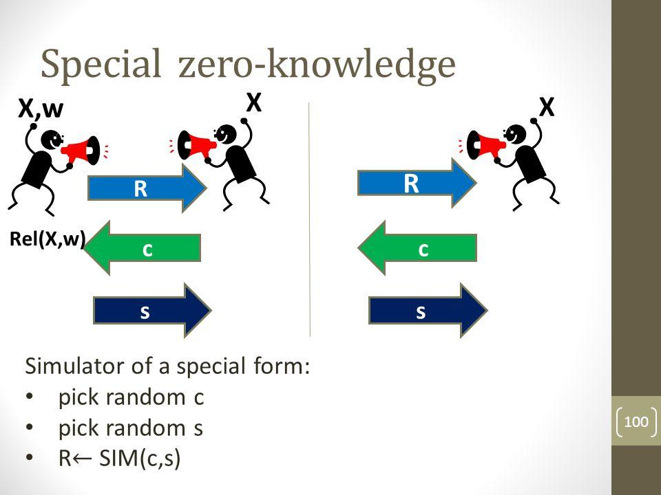 Special zero-knowledge