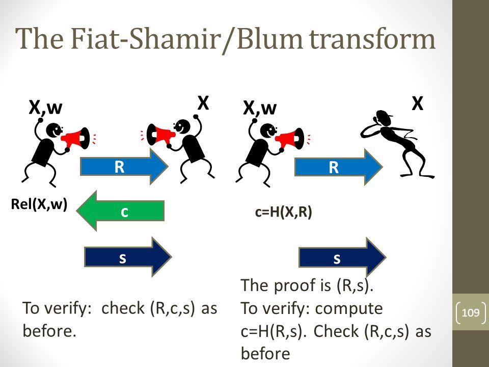 The Fiat-Shamir/Blum transform