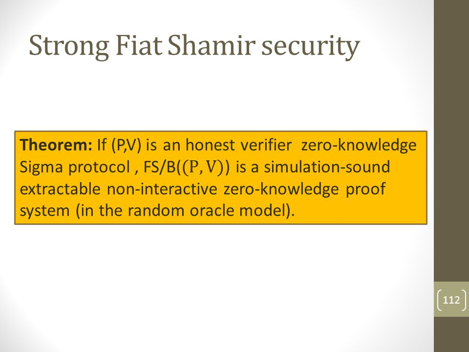 Strong Fiat Shamir security