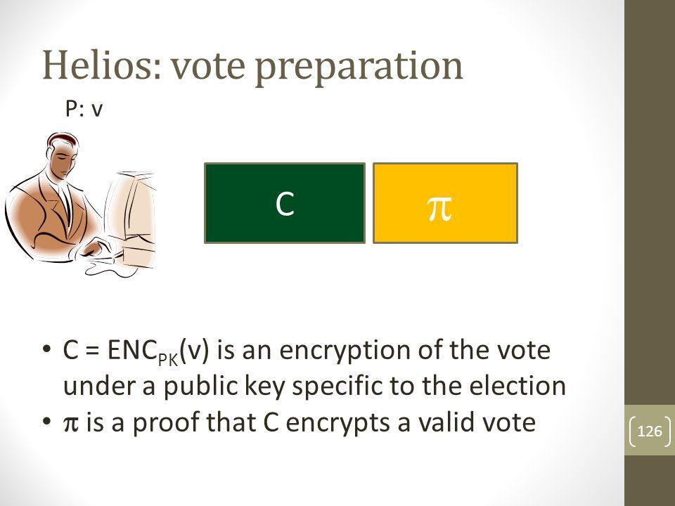 Helios: vote preparation