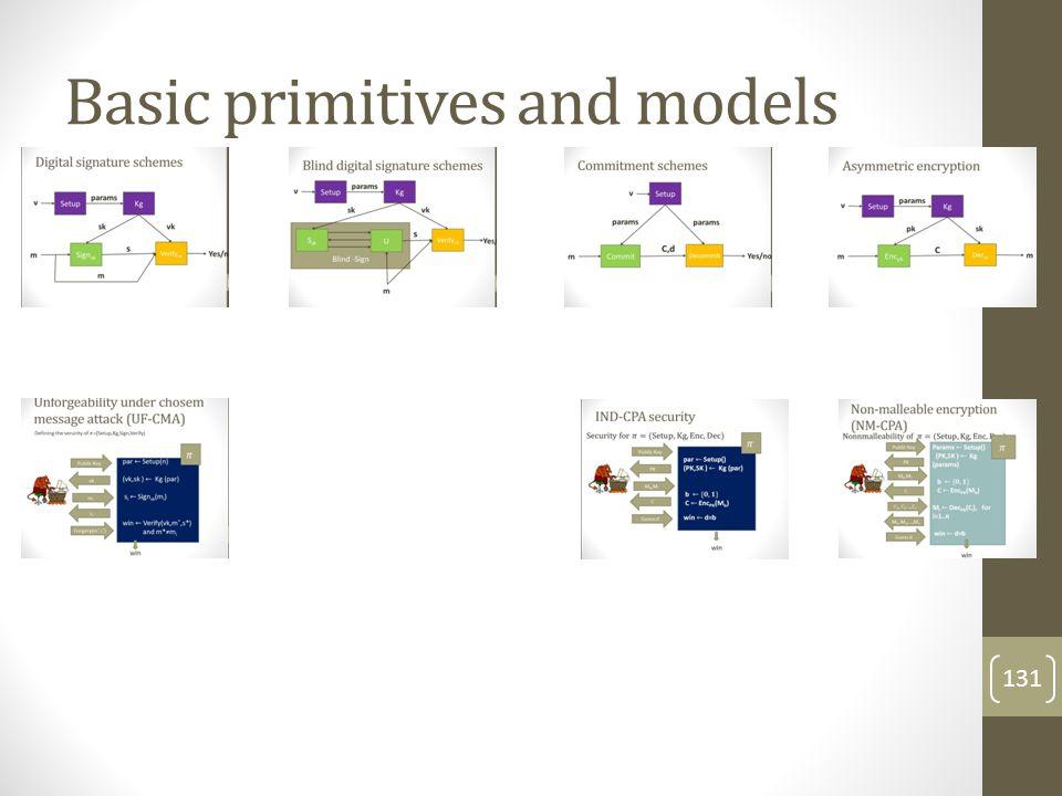 Basic primitives and models