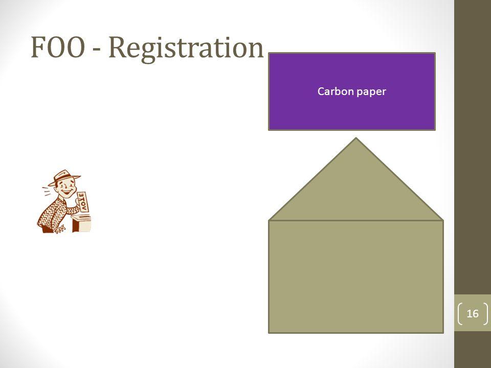 FOO - Registration Carbon paper