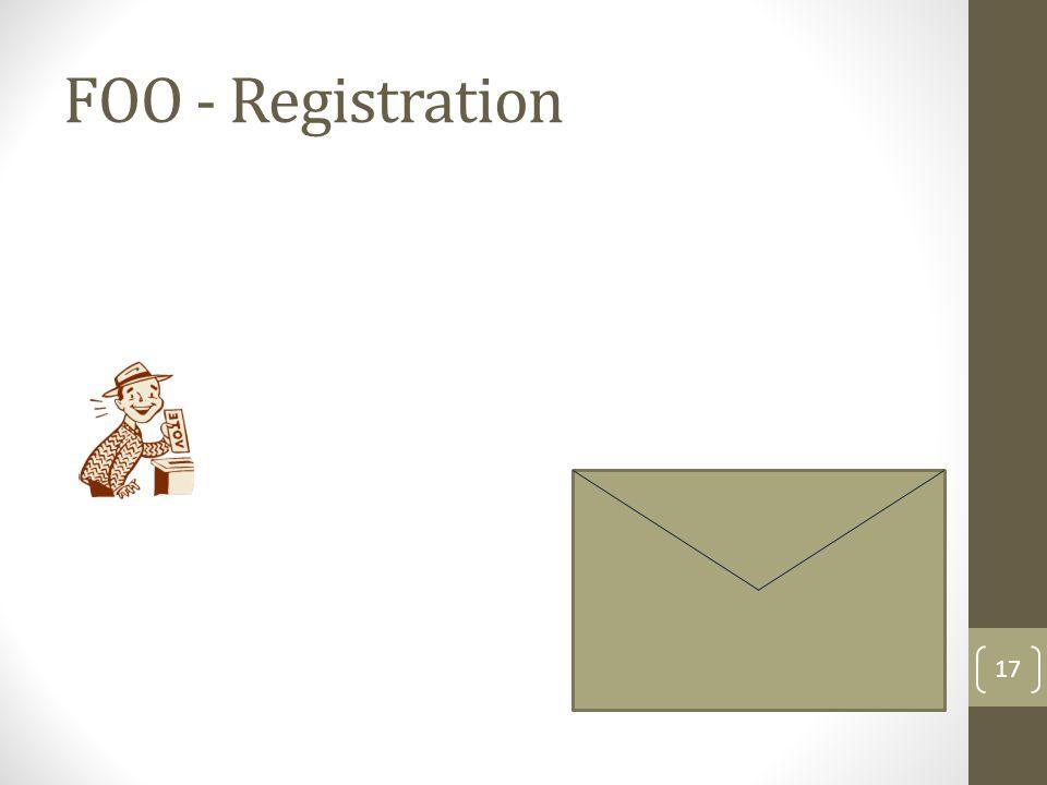 FOO - Registration