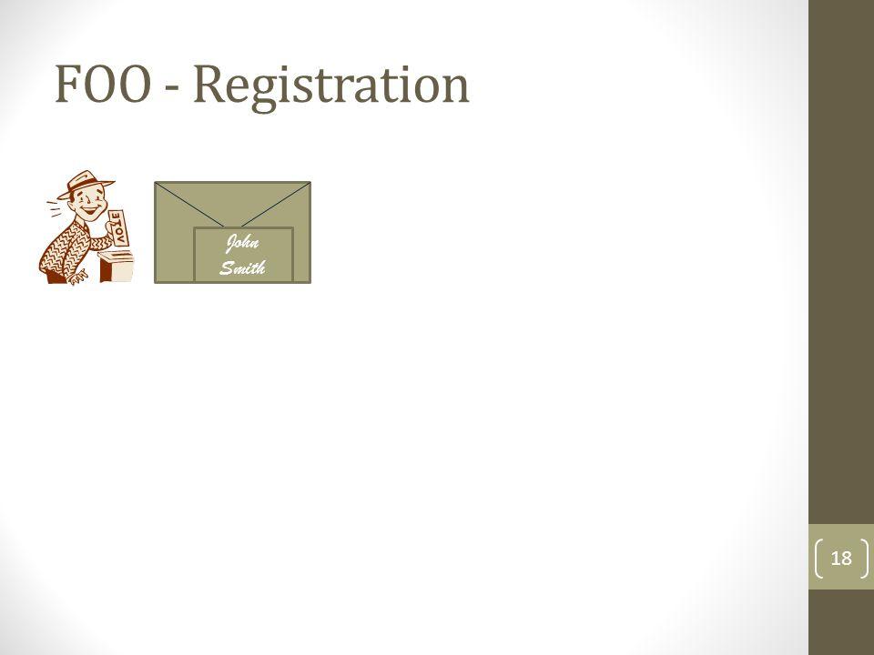 FOO - Registration John Smith